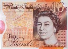 Nota de diez libras nueva foto de archivo