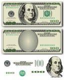 nota de dólar 100 Foto de Stock Royalty Free
