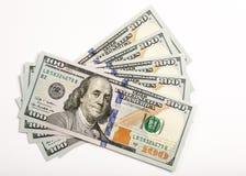 A nota de dólar nova dos E.U. 100 Foto de Stock Royalty Free