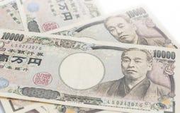 Nota de 10000 ienes japoneses Fotografia de Stock