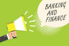 Nota de la escritura que muestra actividades bancarias y finanzas Contabilidad de la foto del negocio y announc de exhibición del Fotografía de archivo