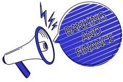 Nota de la escritura que muestra actividades bancarias y finanzas La contabilidad de la foto del negocio y la escritura de exhibi Foto de archivo libre de regalías