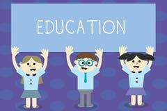 Nota de la escritura que muestra la educación La recepción de exhibición de la foto del negocio o el donante de la instrucción si ilustración del vector