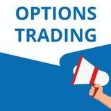 Nota de la escritura que muestra el comercio de opciones libre illustration