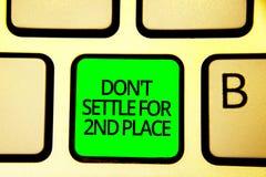 Nota de la escritura que muestra el Settle de Don t no para el 2do lugar La foto del negocio que le muestra puede ser la primera  fotos de archivo