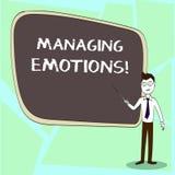 Nota de la escritura que muestra emociones de manejo La capacidad de exhibición de la foto del negocio esté abierta a las sensaci ilustración del vector