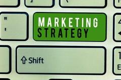 Nota de la escritura que muestra estrategia de marketing Esquema de exhibición de la foto del negocio en cómo presentar negocio d fotos de archivo