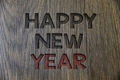 Nota de la escritura que muestra Feliz Año Nuevo Navidad de exhibición de la enhorabuena de la foto del negocio feliz todo el mun foto de archivo