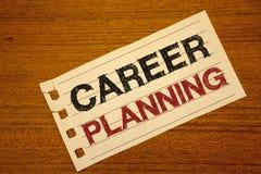Nota de la escritura que muestra la planificación de la carrera Foto del negocio que muestra la estrategia educativa Job Growth T Fotografía de archivo
