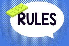 Nota de la escritura que muestra reglas Autoridad de exhibición del poder del ejercicio de la foto del negocio última sobre área  libre illustration
