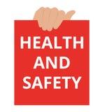 Nota de la escritura que muestra salud y seguridad ilustración del vector