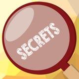 Nota de la escritura que muestra secretos Foto del negocio que muestra desconocido guardado por otras soldado confidencial clasif stock de ilustración