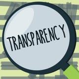 Nota de la escritura que muestra la transparencia Condición de exhibición de la foto del negocio que es evidente obvio claro tran libre illustration