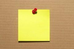 Nota de la etiqueta engomada Fotografía de archivo