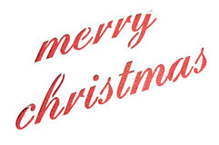 Nota de la Feliz Navidad cortada del papel Foto de archivo libre de regalías
