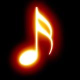 Nota de la música Imagenes de archivo