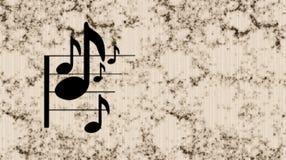 Nota de la música Foto de archivo libre de regalías