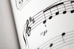Nota de la música Fotografía de archivo