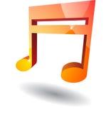 Nota de la música Imagen de archivo
