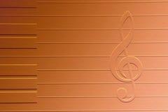 Nota de la música Fotos de archivo