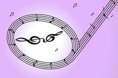 Nota de la música Fotografía de archivo libre de regalías