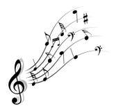 Nota de la música Fotos de archivo libres de regalías
