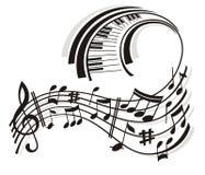 Nota de la música. Imagen de archivo