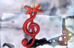 Nota de la música de la Navidad Foto de archivo