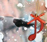 Nota de la música de la Navidad Foto de archivo libre de regalías