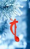 Nota de la música, fondo de Christmass Fotografía de archivo libre de regalías