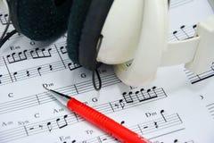 Nota de la música para la idea de la canción Imagen de archivo