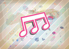 Nota de la melodía con el fondo en colores pastel Foto de archivo libre de regalías