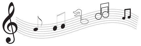 Nota de la música Foto de archivo