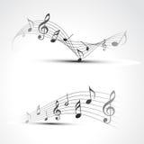 Nota de la música del vector Fotografía de archivo libre de regalías