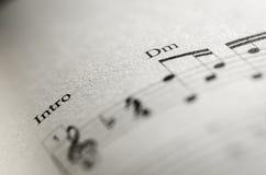 Nota de la partitura Foto de archivo libre de regalías