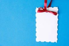 Nota de la tarjeta Imágenes de archivo libres de regalías