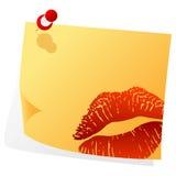 Nota de las tarjetas del día de San Valentín Imágenes de archivo libres de regalías