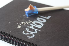 Nota de libro de escuela Fotografía de archivo libre de regalías