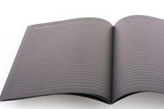 Nota de livro aberta do preto Foto de Stock