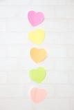 Nota de los corazones del post-it Foto de archivo libre de regalías