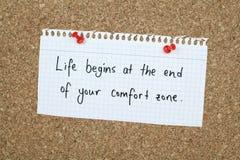 Nota de motivación inspirada de la frase de la vida empresarial Imagen de archivo