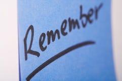 Nota de Notizzettel- Foto de archivo libre de regalías