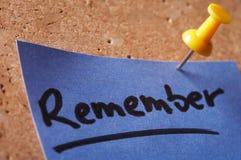 Nota de Notizzettel- Imagen de archivo