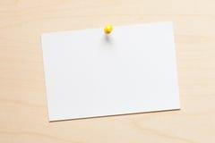 Nota de papel Fotos de Stock
