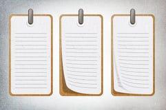 Nota de papel. Fotografía de archivo