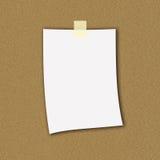 Nota de papel Foto de archivo libre de regalías