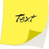 Nota de papel del vector Imagenes de archivo