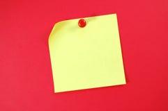 Nota de post-it Imágenes de archivo libres de regalías
