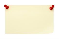 Nota de post-it amarela Fotos de Stock Royalty Free