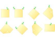 Nota de post-it amarilla Imágenes de archivo libres de regalías